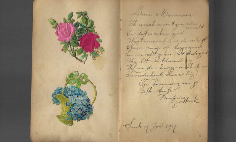 Photo of Poëziealbum met een oorlogsverhaal